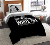Northwest MLB White Sox Twin Comforter & Sham