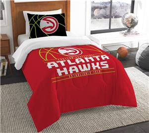 Northwest NBA Hawks Twin Comforter & Sham