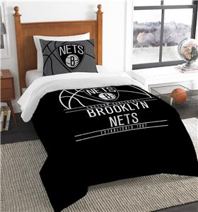 Northwest NBA Nets Twin Comforter & Sham