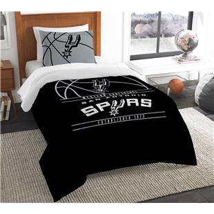 Northwest NBA Spurs Twin Comforter & Sham