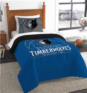 Northwest NBA Timberwolves Twin Comforter & Sham
