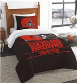 Northwest NFL Browns Twin Comforter & Sham