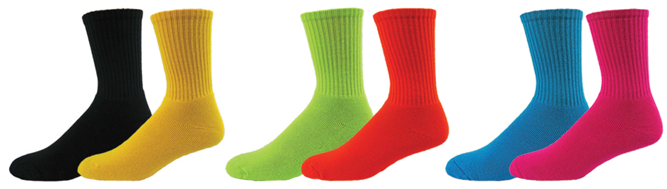 e120942 red lion mismatch solid crew socks pair - will