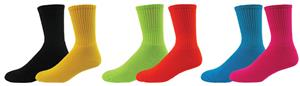Red Lion Mismatch Solid Crew Socks PAIR