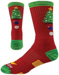 Red Lion Christmas Tree Crew Socks - Closeout