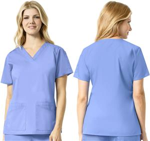 Carhartt Women's V-Neck Multi-Pocket Scrub Top