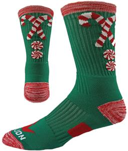 Red Lion Candy Canes Crew Socks - Closeout