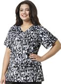 WonderWink Womens Plus Curved V-Neck Scrub Top