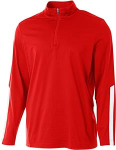 A4 Adult 1/4 Zip Long Sleeve League Jacket