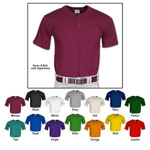 Champro Adult 2 Button Placket Baseball Jersey C/O
