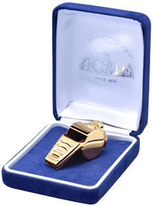 Gold Plated Soccer Coach Whistles w/Gift Box