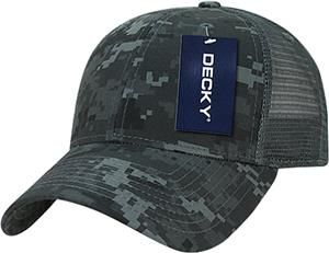 Decky Structured Camo Trucker Cap