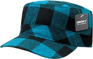 Decky Flannel Flat Top Cap