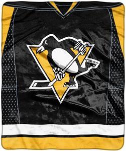 """Northwest NHL Penguins """"Jersey"""" Raschel Throw"""