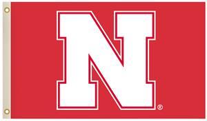 Collegiate Nebraska 2-Sided 3'x5' Flag