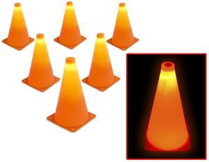 "P&P Imports 9"" LED Light Up Sports Cone (Set of 6)"
