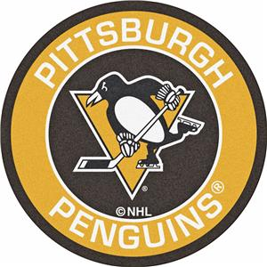 Fan Mats NHL Pittsburgh Penguins Roundel Mat