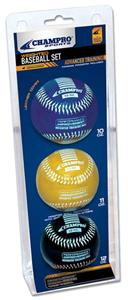 Champro Weighted Training Baseballs-Advanced Set