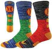 Red Lion Two-Tone Softball Crew Socks - Closeout