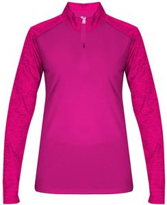 Badger Sport Tonal Blend Ladies 1/4 Zip Pullover
