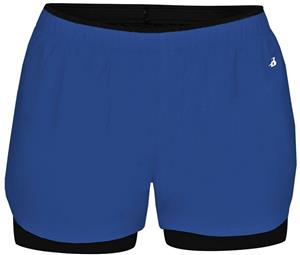 Badger Sport Ladies Double Up Shorts