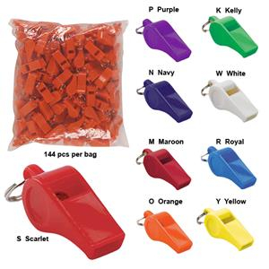 Markwort Bulk Whistles-10 Colors Bag of 144