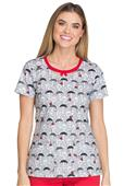 Dickies Women's Dots Amore Round Neck Scrub Top