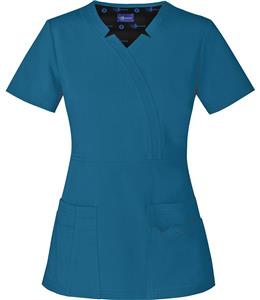 Sapphire Womens Madison Mock Wrap Scrub Top