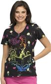 Cherokee Disney Women's V-Neck Scrub Top