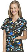 Cherokee Disney Women's Go With The Flow Scrub Top