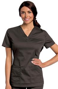 Landau Women's All-Day Y-Neck Scrub Tunic