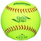 "Diamond Zulu Red Stitch 11"" Slowpitch Softball"
