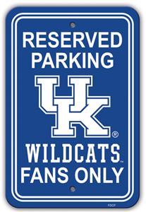 "Collegiate Kentucky 12"" x 18"" Plastic Parking Sign"