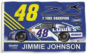 NASCAR Jimmie Johnson #48 3' x 5' Flag w/Grommets