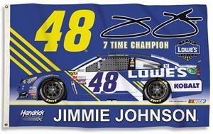 NASCAR Jimmie Johnson #48 3' x 5' Flag w/Grommets