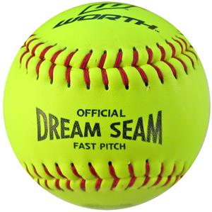 "Worth 11"" ASA NFHS Fastpitch Dream Seam Softballs"