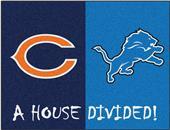 Fan Mats NFL Bears/Lions House Divided Mat
