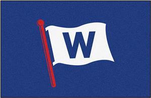"""Fan Mats MLB Chicago Cubs """"W"""" Starter Mat"""