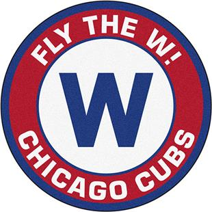 Fan Mats MLB Chicago Cubs Fly The W! Roundel Mat