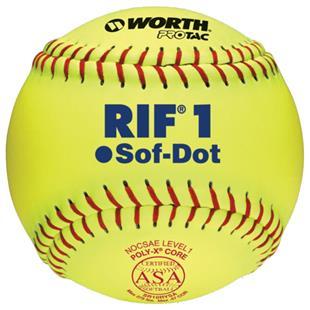 "Worth 10"" RIF 1 Sof-Dot ASA Fastpitch Softballs"