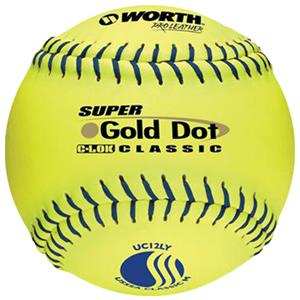 12&quot; USSSA Super Gold Dot Mens Slowpitch Softballs