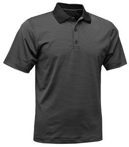 Baw Mens Mini Stripe Spandex Cool-Tek Polo