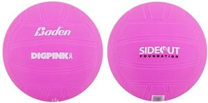 Baden Dig Pink Rubber Autograph Hav-A-Volleyball
