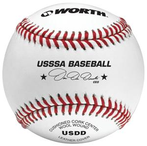 "Worth 9"" USSSA Pro J Leather Baseballs"