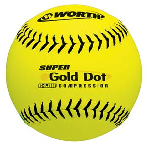 "12"" NSA Super Gold Dot Pro Tac Slowpitch Softballs"