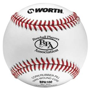 "Worth 9"" BPA Pro Alum Leather Baseballs"