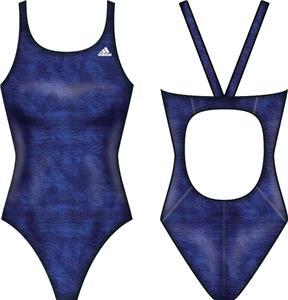 Adidas Womens Web Range V-Back Swim Suit