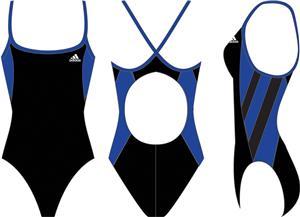 Adidas Womens Event Splice Vortex Back Swim Suit