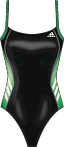 Adidas Womens Solid Splice Vortex Back Swim Suit