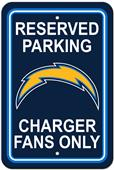 NFL Los Angeles Chargers Reserved Parking Sign